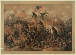 "Prang (L.) & Co. ""Siege of Vicksburg."" Digital File from Original Print. Library of Congress Prints and Photographs Online Catalog. http://www.loc.gov/resource/pga.04049/ (accessed May 22, 2015)."