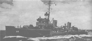 "Passing mail to a destroyer somewhere in the South Pacific. Photo from the September 1943 issue of ""All Hands"" magazine."