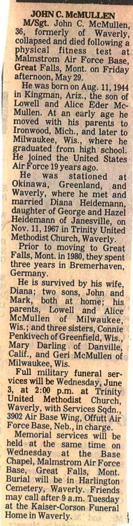 McMullen, John C. Obituary